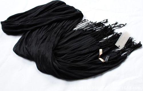 Plain colours silk long scarf