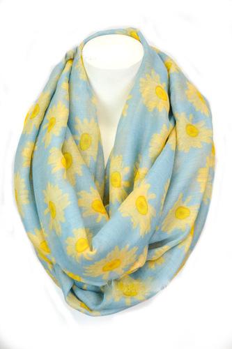 Sunflowers infinity scarf