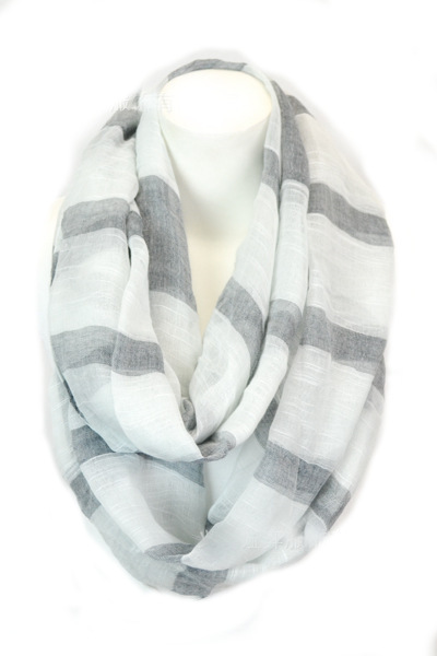 Wide strips infinity scarf