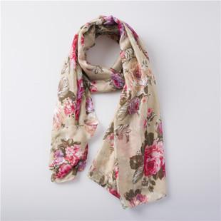 Beautiful flowers long scarf