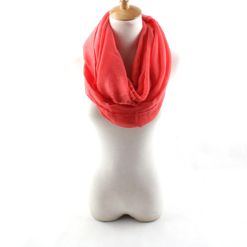 Plain colours infinity scarf
