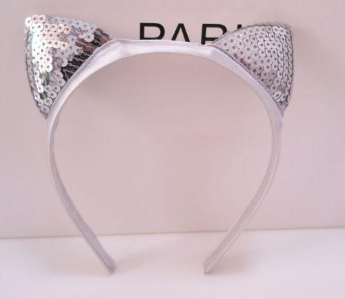 Shiny sequins cat ears headband