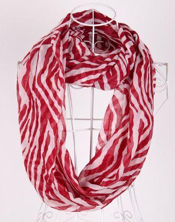 Zebra waves infinity scarf 00966