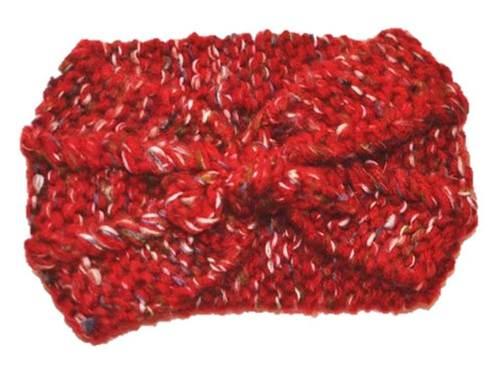 Two way knot bow crochet headband
