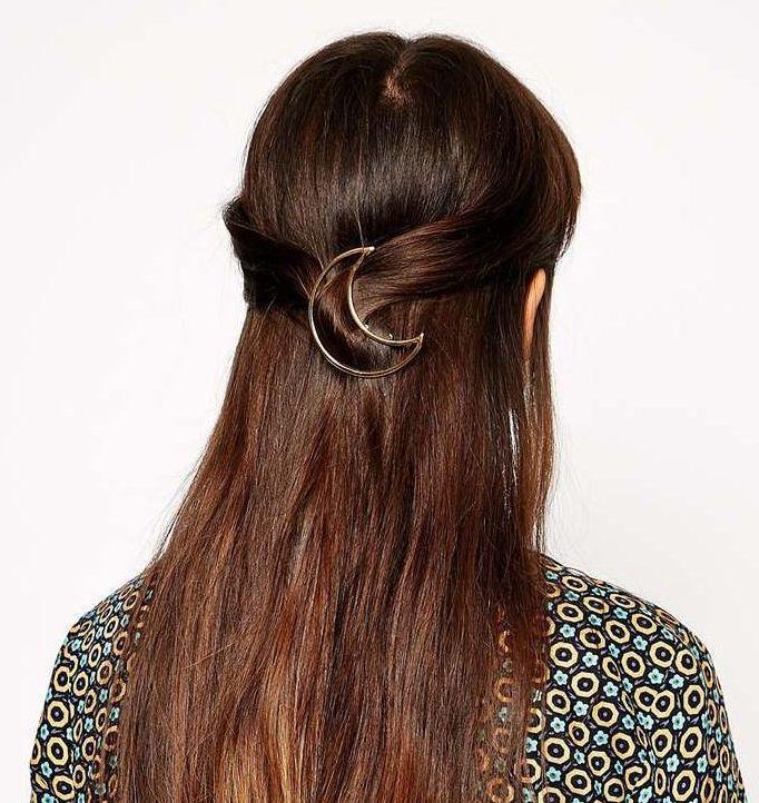 Moon / Triangle hair clips