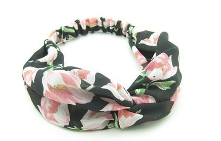 Large flowers turban headband 01115
