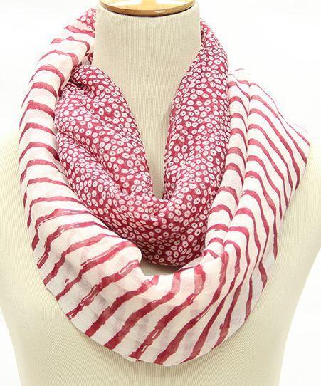 Leopard strips mix infinity scarf 01175