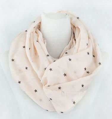 Light pink little stars infinity scarf