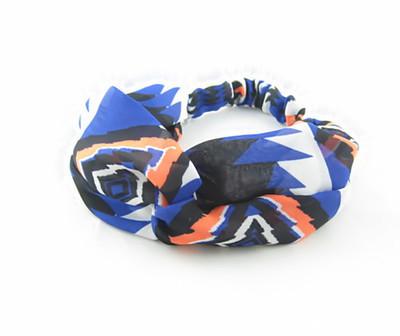 Beautiful blue chiffon headband