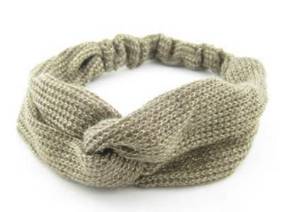 Tinsel crochet turban headband