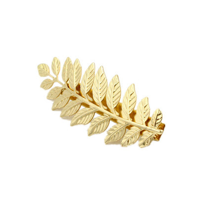 Gold leaves hair barrette