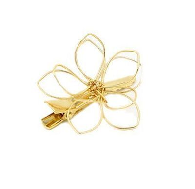 Metal flower hair clip