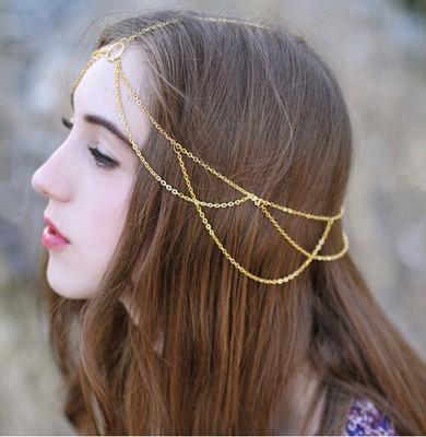 Gold circle head chain