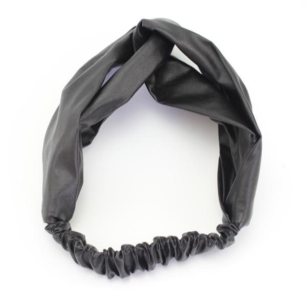 Leather turban headband 01246 b46cc90e078