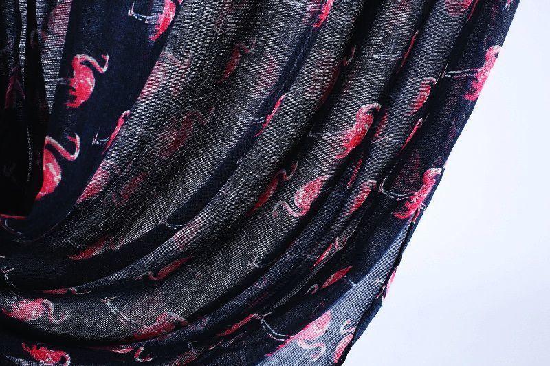 Dark blue flamingo infinity scarf
