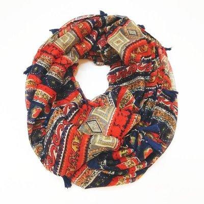 Tassels Totem bohemian infinity scarf