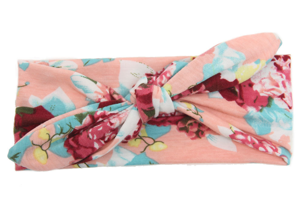 Floral bowknot soft headband
