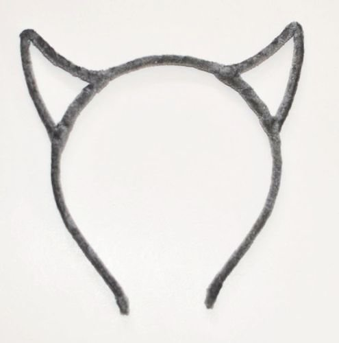 Velvet devil ears headband 00557