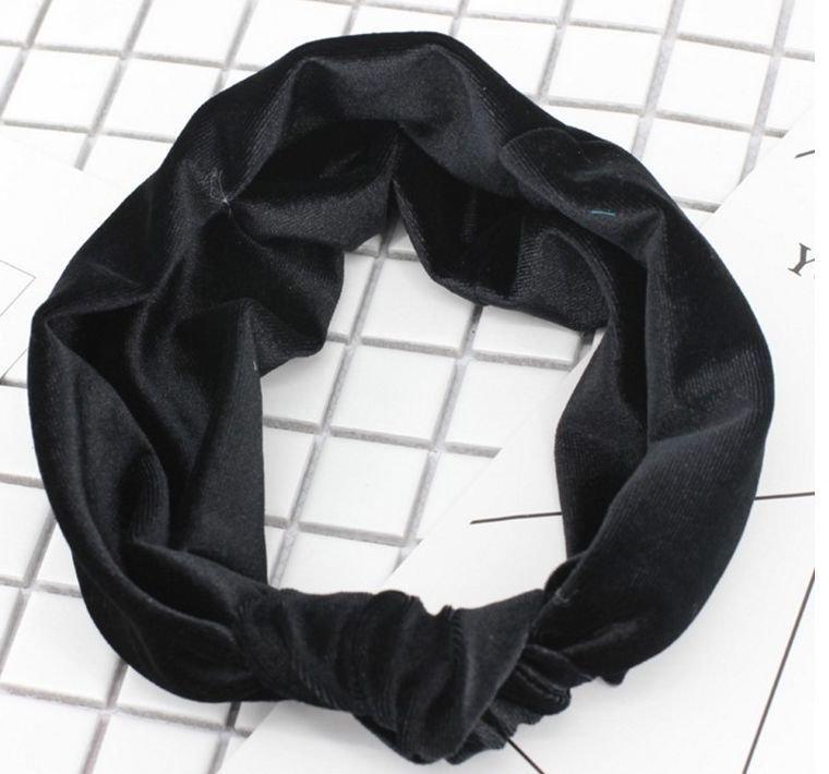 Velvet knot headband 01261