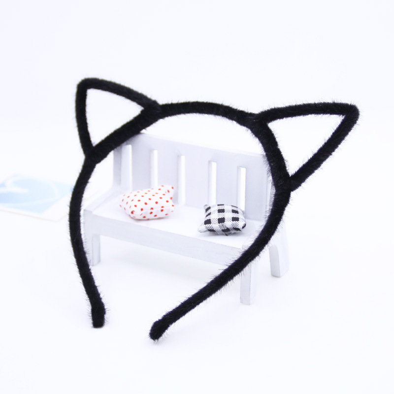 Fluffy cat ears headband