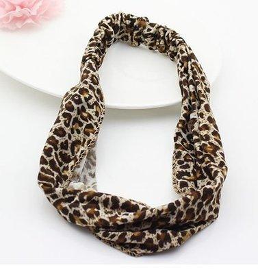 Leopard bandanna headband