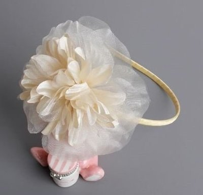 Champagne large flower headband