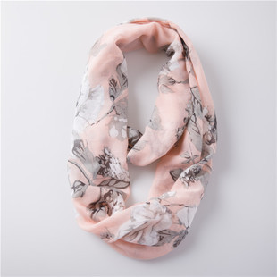 Large flowers infinity scarf