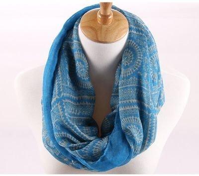 Circle totem infinity scarf