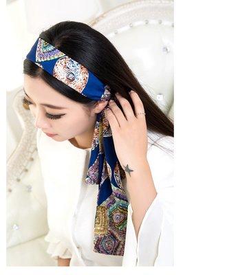 Bohemian style wide ribbon hair scarf