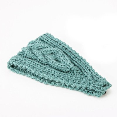 Braided pattern crochet headband