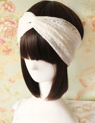 Lace turban headband