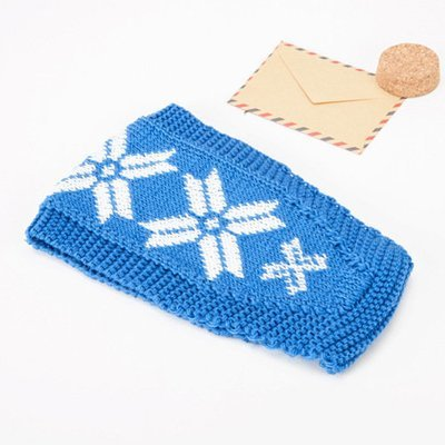 Snow flakes crochet headband