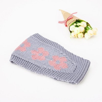 Pretty flowers crochet headband
