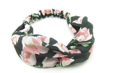 Large flowers turban headband