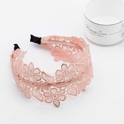 Golden thread & large lace flowers headband