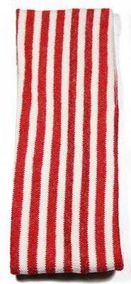 Knitted-wool striped stretch headband