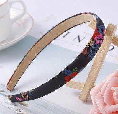 Printed satin slim headband