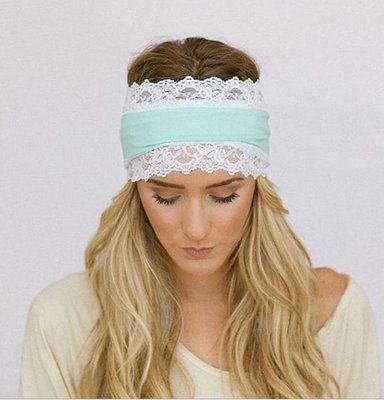 Cotton Lace knot bandanna headband