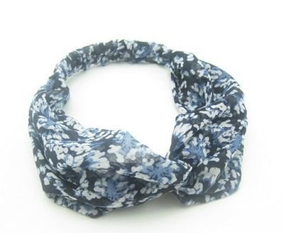 Blue / Rust floral turban headband