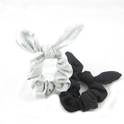 Black cotton scrunchy with bow