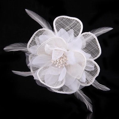 Organza mesh flower hair clip & pin
