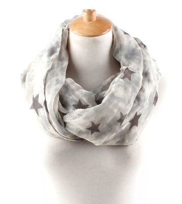 Ink-painted stars infinity scarf