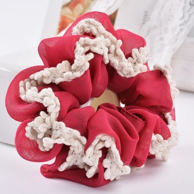 Sheer chiffon scrunchies