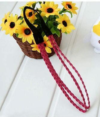 Painted braided elastic headband