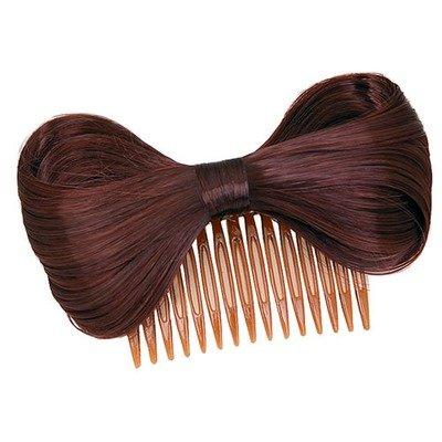 Fake-hair bow hair comb