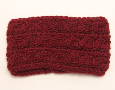 Braided wide crochet headband