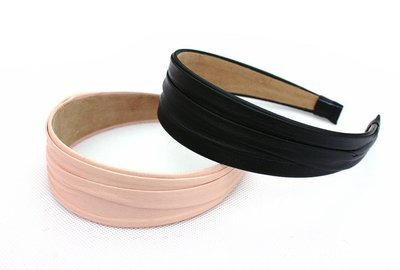 Folded PU wide headbands