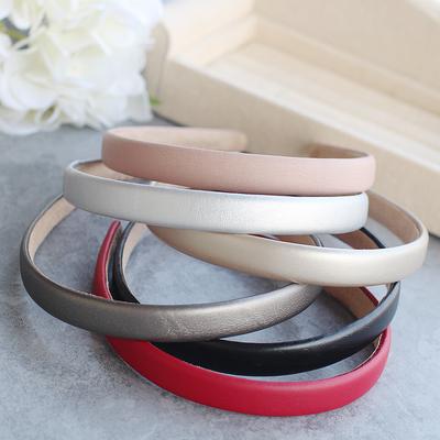 Skinny leather headband