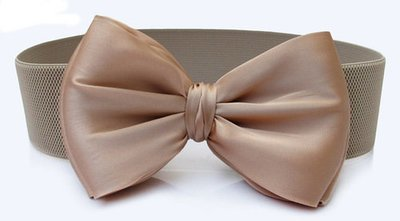 Large bow knot stretch waist belt