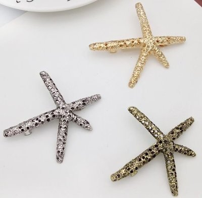 Hollow star fish hair barrette